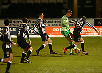 10th February 2021; St Mirren Park, Paisley, Renfrewshire, Scotland; Scottish Premiership Football, St Mirren versus Celtic; Kris Ajer of Celtic controls the ball and takes on the St Mirren defence