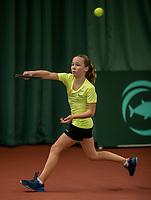 The Hague, The Netherlands, March 17, 2017,  De Rhijenhof, NOJK 14/18 years, Sarah van Emst (NED)<br /> Photo: Tennisimages/Henk Koster
