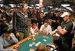 A view of table action