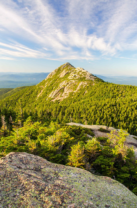 A portrait of Mount Chocorua standing tall in the White Mountains of New Hampshire.