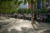 New York, New York<br /> September 11, 2020<br /> <br /> Crowds flock to ground zero in remembrance of the September 11 terrorists destroyed the Twin Towers and several builds killing more than 2,977 people.