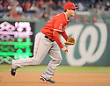 Los Angeles Angels David Freese (6) during a game against the Washington Nationals on April 23, 2014 at Nationals Park in Washington, DC. The Nationals beat the Angels 5-4.