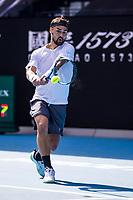 15th February 2021, Melbourne, Victoria, Australia; Fabio Fognini of Italy returns the ball during round 4 of the 2021 Australian Open on February 15 2021, at Melbourne Park in Melbourne, Australia.