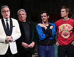 """Moises Kaufman, Harvey Fierstein, Michael Urie and Ward Horton during the Broadway Opening Night Curtain Call for """"Torch Song"""" at the Hayes Theater on November 1, 2018 in New York City."""