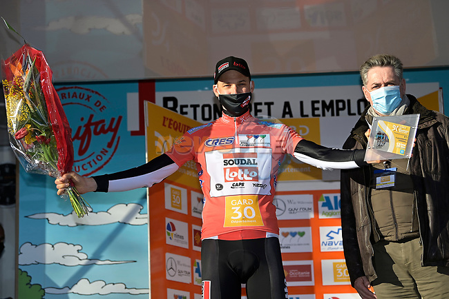 Tim Wellens (BEL) Lotto-Soudal takes the overall victory during the closing individual time trial at the Etoile de Bessèges. Wellens once again demonstrated his excellent shape and time trialled his way to fourth place during Stage 5 of the 51st edition of the Etoile de Besseges, a 10.7km time trial starting in Ales and finish in Ales LÕErmitage, France. 7th February 2021. <br /> Picture: Nico Vereecken/Photo News | Cyclefile<br /> <br /> All photos usage must carry mandatory copyright credit (© Cyclefile | Nico Vereecken/Photo News)