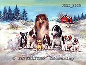 GIORDANO, CHRISTMAS ANIMALS, WEIHNACHTEN TIERE, NAVIDAD ANIMALES, paintings+++++,USGI2530,#XA# dogs,puppies