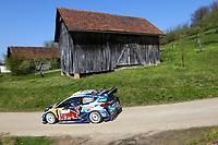 23rd April 2021; Zagreb, Croatia; WRC Rally of Croatia, stages 1-8;  Adrien Fourmaux - Ford Fiesta WRC WRC