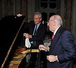 FEDELE CONFALONIERI CON FRANCESCO RUTELLI<br /> PREMIO GUIDO CARLI - QUINTA EDIZIONE<br /> PALAZZO DI MONTECITORIO - SALA DELLA REGINA<br /> CON RICEVIMENTO A PALAZZO COLONNA ROMA 2014