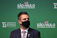 SÃO PAULO, SP, 31.05.2021 - COVID-19-SP - Leonardo Caressato Capitelli, Prefeito de Serrana (MDB/SP), participa de apresentação de informações sobre o combate ao coronavírus (COVID-19) em São Paulo, no Instituto Butantan, nesta segunda-feira, 31. (Foto Charles Sholl/Brazil Photo Press)