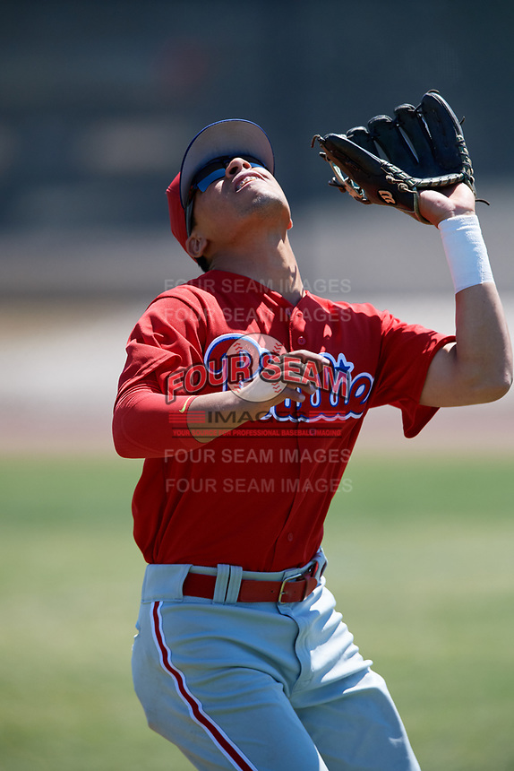 Philadelphia Phillies Jesus Henriquez (37) during a Minor League Spring Training game against the Pittsburgh Pirates on March 23, 2018 at the Carpenter Complex in Clearwater, Florida.  (Mike Janes/Four Seam Images)