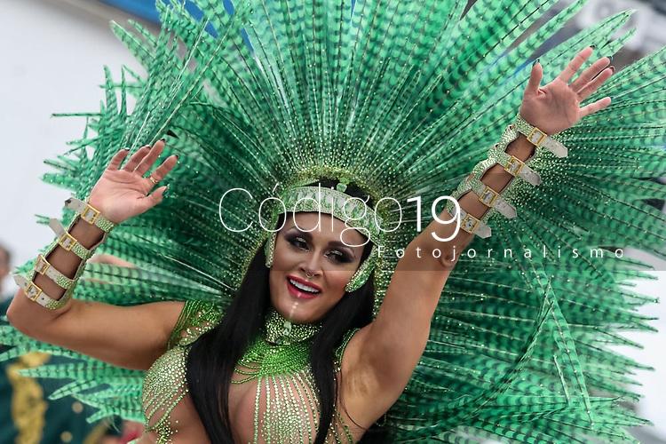 SAO PAULO, SP, 21/02/2020 - Carnaval 2020 -SP- Carnaval 2020, Juju Salimeni de Bateria da Escola de X-9 Paulistana pelo grupo especial, no Sambodromo do Anhembi em Sao Paulo, SP, nesta sabado (22). (Foto: Marivaldo Oliveira/Codigo 19/Codigo 19)