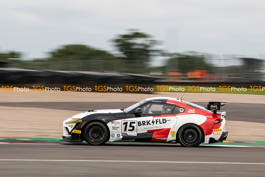 John Ferguson & Scott McKenna, Toyota GR Supra GT4, Toyota GAZOO Racing UK through Fogarty Esses during the British GT & F3 Championship on 10th July 2021