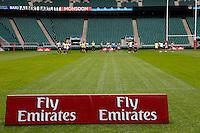 Photo: Richard Lane/Richard Lane Photography. .Emirates Airline Media training day with the England Sevens team at Twickenham. 13/05/2011. Twickenham Stadium.