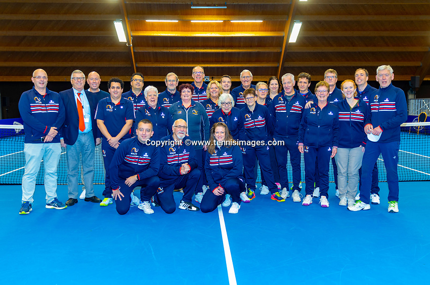 Alphen aan den Rijn, Netherlands, December 15, 2018, Tennispark Nieuwe Sloot, Ned. Loterij NK Tennis, Umpires and linespeople<br /> Photo: Tennisimages/Henk Koster