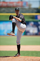 Jupiter Hammerheads relief pitcher Parker Bugg (29) delivers a pitch during a game against the Clearwater Threshers on April 11, 2018 at Spectrum Field in Clearwater, Florida.  Jupiter defeated Clearwater 6-4.  (Mike Janes/Four Seam Images)