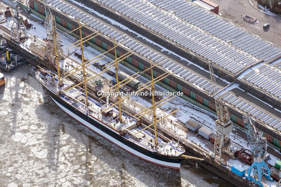 Peking am Schuppen 50 bei Hafenmuseum: EUROPA, DEUTSCHLAND, HAMBURG, (EUROPE, GERMANY), 14.02.2021  Peking am Schuppen 50 bei Hafenmuseum
