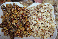 Tunisia, Sidi Bou Said.  Candy for Sale, with Pistachios, Almonds, and Other  Nuts.