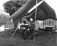 Gen. Philip H. Sheridan, ca.  1864. Mathew Brady Collection. (Army)<br /> Exact Date Shot Unknown<br /> NARA FILE #:  111-B-55<br /> WAR & CONFLICT BOOK #:  124
