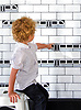 """Subway!, a waterjet jewel glass mosaic, shown in Absolute White, Obsidian, and Alabaster, is part of Cean Irminger's second KIDDO Collection, """"KIDDO: Wunderkammer® Edition"""" for New Ravenna."""