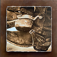 Cowboy Boots - Mixed Media - Utah<br />