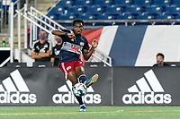 FOXBOROUGH, MA - AUGUST 7: Jon Bell #70 of New England Revolution II passes the ball during a game between Orlando City B and New England Revolution II at Gillette Stadium on August 7, 2020 in Foxborough, Massachusetts.