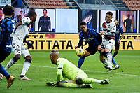 Lautaro Martinez of FC Internazionale scores a goal during the Serie A football match between FC Internazionale and FC Crotone at stadio San Siro in Milano (Italy), January 3rd, 2021. Photo Daniele Buffa / Image Sport / Insidefoto