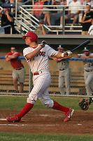 July 4, 2005:  Catcher Lou Marson of the Batavia Muckdogs during a game at Dwyer Stadium in Batavia, NY.  The Muckdogs are the Short Season Class-A affiliate of the Philadelphia Phillies.  Photo By Mike Janes/Four Seam Images