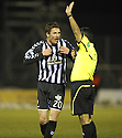 27/11/2010   Copyright  Pic : James Stewart.sct_jsp003_hamilton_v_st_mirren  .::  SEAN LYNCH  HAS A GO AT ISRAELI REFEREE MEIR LEVI AFTER HE DISALLOWED PAUL MCGOWAN'S GOAL ::.James Stewart Photography 19 Carronlea Drive, Falkirk. FK2 8DN      Vat Reg No. 607 6932 25.Telephone      : +44 (0)1324 570291 .Mobile              : +44 (0)7721 416997.E-mail  :  jim@jspa.co.uk.If you require further information then contact Jim Stewart on any of the numbers above.........