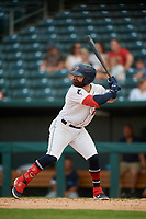 Jacksonville Jumbo Shrimp John Silviano (22) at bat during a Southern League game against the Mobile BayBears on May 28, 2019 at Baseball Grounds of Jacksonville in Jacksonville, Florida.  Mobile defeated Jacksonville 2-1.  (Mike Janes/Four Seam Images)