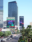 """Theatre Marquee for """"Lady Gaga Enigma"""", a concert residency featuring two different shows, September 19, 2018 at Park Theater, Park MGM in Las Vegas, Nevada."""