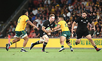 7th November 2020, Brisbane, Australia; Tri Nations International rugby union, Australia versus New Zealand;  Ardie Savea of The Allblacks runs with the ball