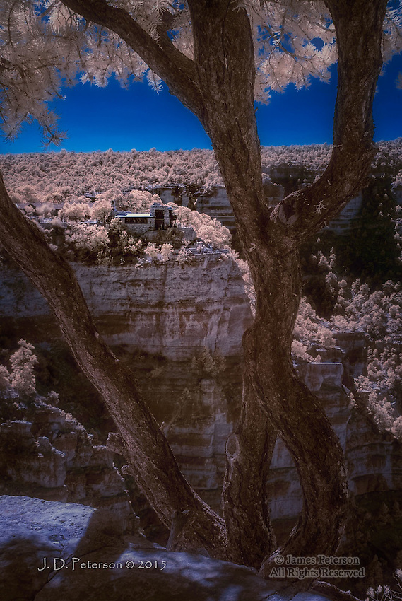 Lookout Studio, Grand Canyon South Rim (Infrared)
