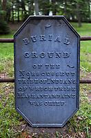 Nobcusssett tribe burial grounds, Brewster, Cape Cod, Massachusetts, USA.