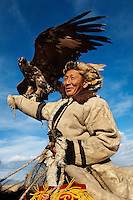 Men at the Altai eagle festival, Mongolia.
