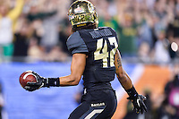 January 01, 2014:<br /> <br /> Baylor Bears inside receiver Levi Norwood #42 celebrates after a touchdown during Tostitos Fiesta Bowl at University of Phoenix Stadium in Scottsdale, AZ. UCF defeat Baylor 52-42 to claim it's first ever BCS Bowl trophy.
