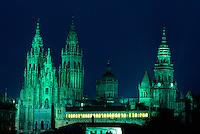 Kathedrale in Santiago de Compostella, Galicien, Spanien, Unesco-Weltkulturerbe