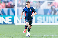 DENVER, CO - JUNE 3: Sergino Dest #2 of the United States moves with the ball during a game between Honduras and USMNT at EMPOWER FIELD AT MILE HIGH on June 3, 2021 in Denver, Colorado.