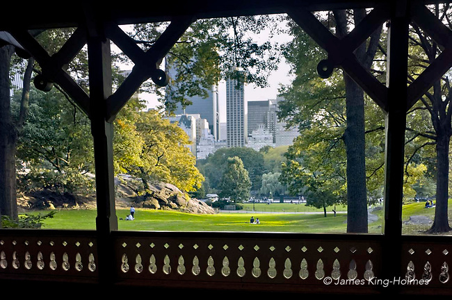 Central park from the loggia of the Dairy visitor centre