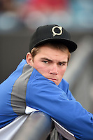 Omaha Storm Chasers pitcher Aaron Brooks (41) before a game against the Nashville Sounds on May 19, 2014 at Herschel Greer Stadium in Nashville, Tennessee.  Nashville defeated Omaha 5-4.  (Mike Janes/Four Seam Images)