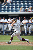 Boomer White (8) of the Texas A&M Aggies bats against the Pepperdine Waves at Eddy D. Field Stadium on February 26, 2016 in Malibu, California. Pepperdine defeated Texas A&M, 7-5. (Larry Goren/Four Seam Images)