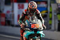 25th Septmeber 2020, Circuit de Barcelona, Catalunya, Spain; MotoGp of Catalunya, Free practise sessions;  20 Fabio Quartararo