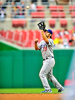 24 April 2010: Los Angeles Dodgers' infielder Blake DeWitt in action against the Washington Nationals at Nationals Park in Washington, DC. The Dodgers edged out the Nationals 4-3. Mandatory Credit: Ed Wolfstein Photo