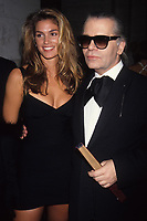Karl Lagerfeld with Cindy Crawford 1992