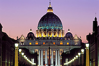 Italy,Rome, The Vatican, Saint Peter's Basilica and Via D. Conciliazione.NO PROPERTY RELEASE