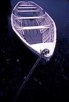 Moored long rowboat<br />