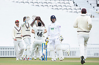 Surrey celebrate the wicket of Tom Alsop, Hampshire CCCduring Surrey CCC vs Hampshire CCC, LV Insurance County Championship Group 2 Cricket at the Kia Oval on 1st May 2021