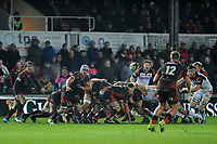 Ollie Griffiths of Dragons in action during the Guinness Pro14 Round 09 match between the Dragons and Edinburgh at Rodney Parade Stadium in Newport, Wales, UK. Sunday 25 November 2018