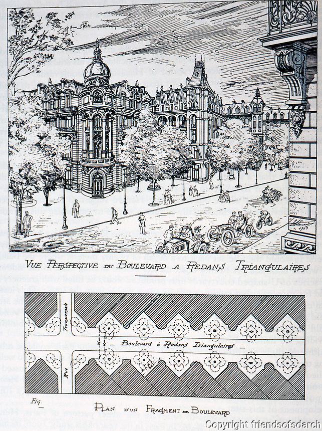 Paris: Henard Plan, streets. Alignement Brise--broken alignment. Photo '84.
