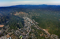 aerial photograph of Scotts Valley, Highway 17, Santa Cruz county, California