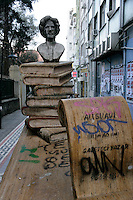Statue of Ali Suavi (1839-1878), Ottoman writer and journalist, in Kadikoy, Istanbul, Turkey